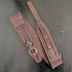 Anthropologie brown belt